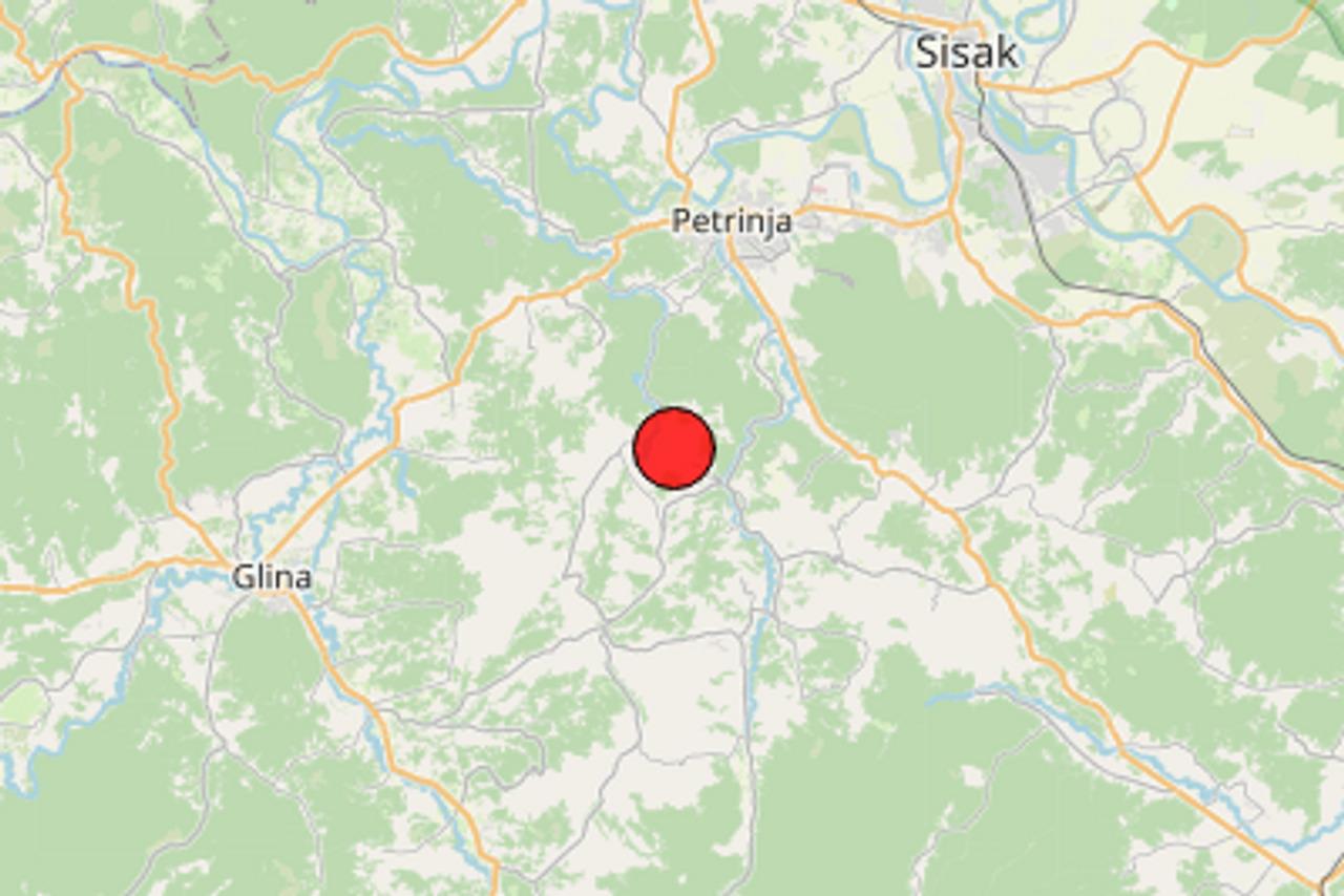 Slab potres magnitude 2,6 prema Richteru udario blizu Petrinje: 'Ovaj je dobro zagrmio...'